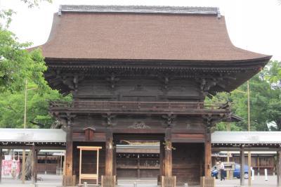 2011梅雨、尾張の古刹・名刹、国府宮神社(1)参道、鳥居、楼門、拝殿、本殿