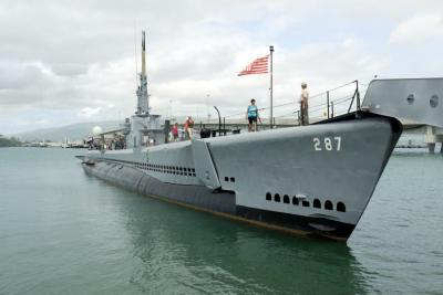 36.春休みの8泊10日のハワイ旅行 パールハーバーの潜水艦バウフィン号博物館その1