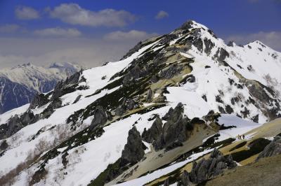 春の北アルプス 残雪の燕岳