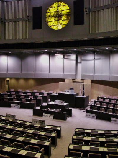 東京都議会議事堂 見学コースで ☆シルバー大学院校外学習に参加