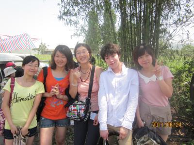 中国日本語専攻大学生と交流会と機関車(SL)試乗体験