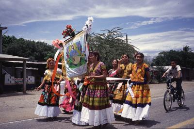 初メキシコ(オアハカ州の太平洋岸を行く)