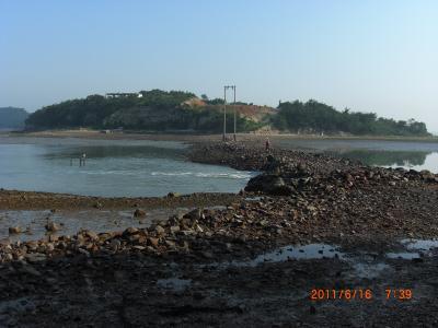 2011夏(3)済扶島の地元の人しか知らない海割れ現象を発見