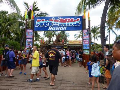 夏休みハワイ☆9泊11日③ ウエット・アンド・ワイルド・ハワイ 入園料$43オンリー無料送迎ツアーあります