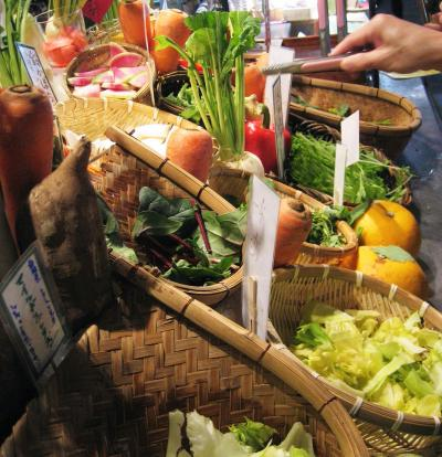 Japan  国立 めずらしい野菜がいっぱい 農家の台所