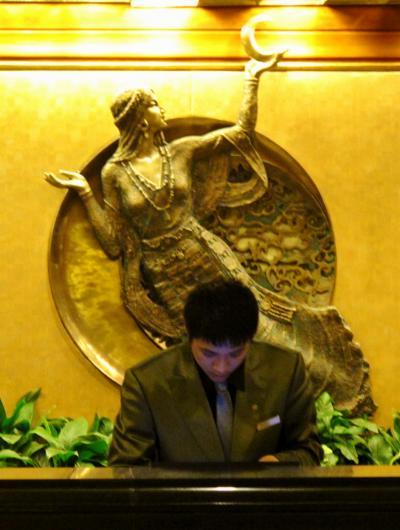 四川省14 九寨溝を出て喜来登国際大酒店に泊 ☆さすが5つ星・シェラトン!