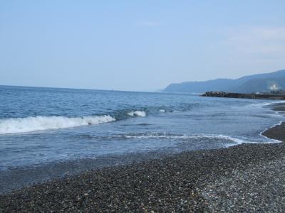 2011年葉月 (帰省)ヒスイ海岸でヒスイ探して、糸魚川ブラックを食べてみた。