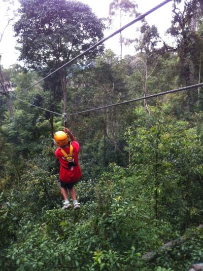 チェンマイでジャングルフライト(jungle flight)を体験