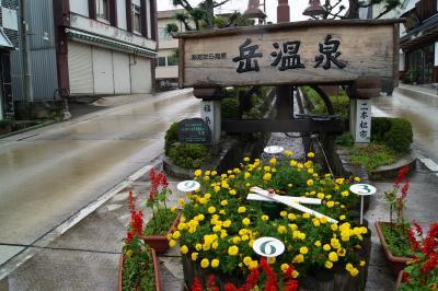 台風の中の岳温泉と那須のアルパカ牧場
