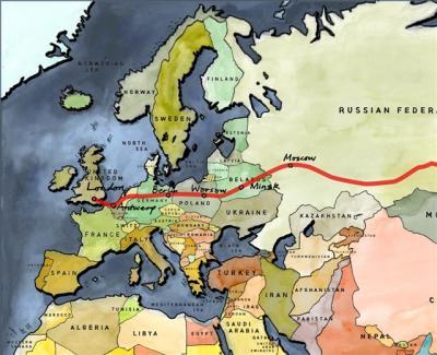 ジェイミー&ベン 自転車で南極へ8 モスクワに到着、3200キロ走破