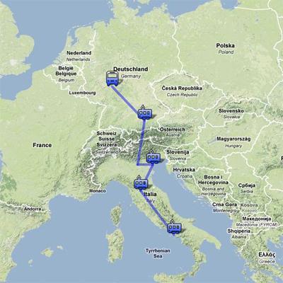 1997 ユーレイルパスでイタリアからドイツへ