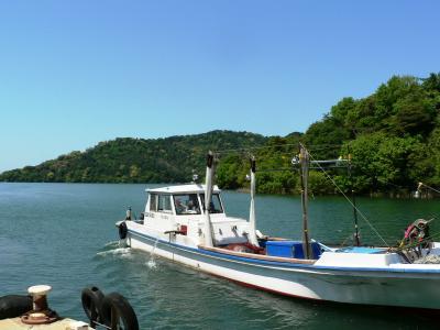 日本の旅 関西を歩く 琵琶湖岸から見る沖島周辺