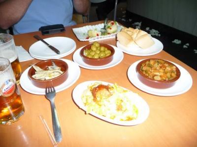 サラマンカのホテルと食事。