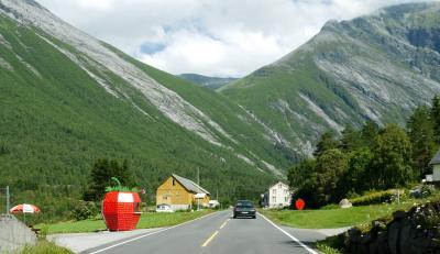 ノルウエーフィヨルド地帯1300kmドライブ11-Norddalsfjorden EidsdalenからLingeへのフェリー