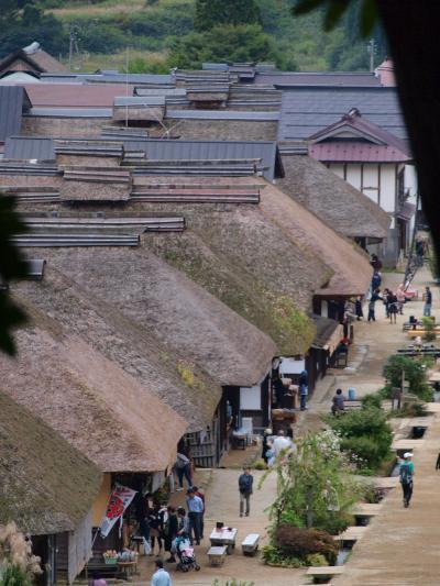 東北旅行記2011秋 (2) 塔のへつり、大内宿