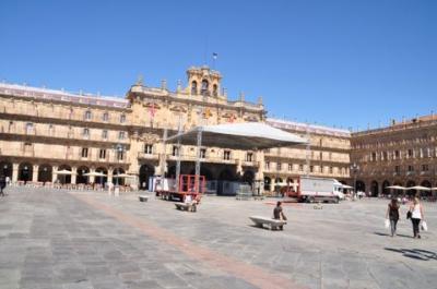 サラマンカのマヨール広場と新市街。