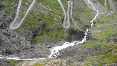 ノルウエーフィヨルド地帯1300kmドライブ13-Trollstingen(トロルのはしご段)2