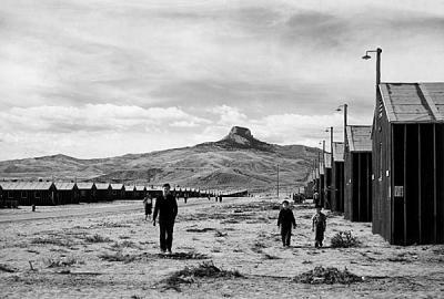 第二次世界大戦時の日系人強制収容所跡の見学/ ハート マウンテン