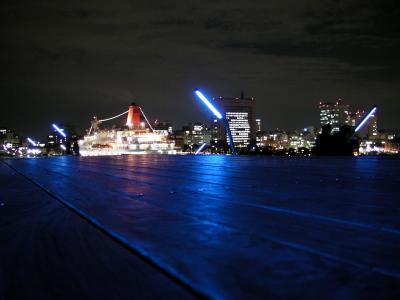 夜のお散歩 横浜大桟橋