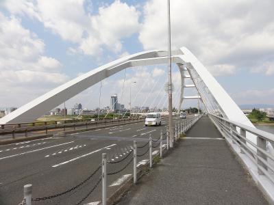 南方→水道記念館→長柄橋→淀川旧分流施設→梅田