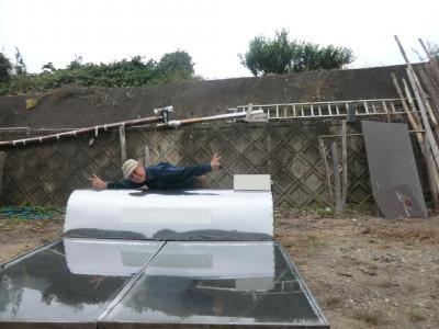 太陽熱温水器その2 京丹波町秘密基地109