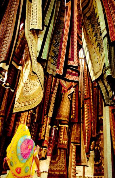 サンガネールで染色工場に行ってみる、ジャイプール買い物編