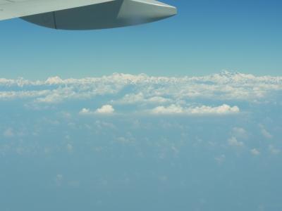 バンコクからカトマンズへ、ヒマラヤの眺望~ネパール・タイ旅行二日目・2011年10月16日