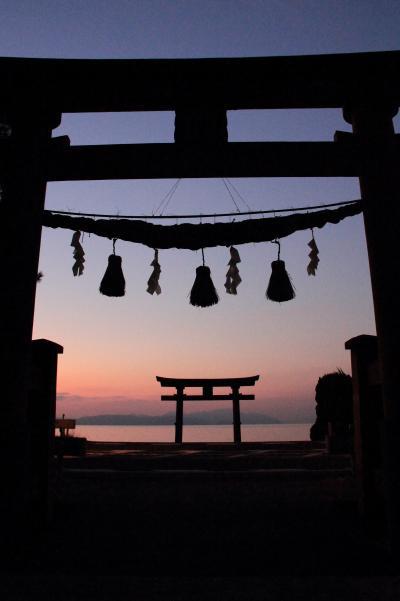 滋賀 白髭神社の日の出と高島ドライブ