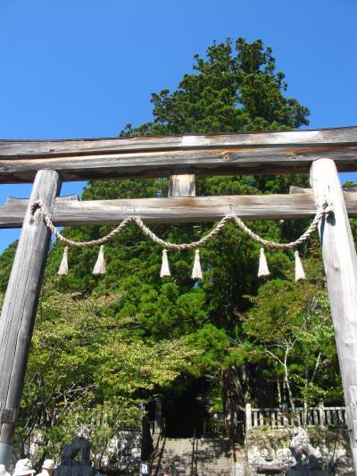 戸隠c 戸隠神社;中社に参拝・三本杉の偉観 ☆手打そばを山口屋で賞味