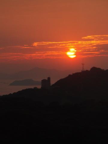 鷲羽山からの夕景 (岡山県・倉敷市)