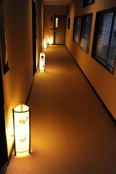 山形県小野川温泉河鹿荘の夜