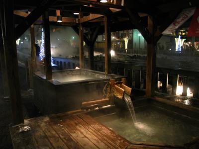 2010年正月 雪景色の草津温泉