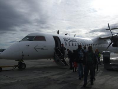 2歳子連れ11年ぶりのラトビア、そして北欧へ 15 ラトビアの首都リーガへのフライト