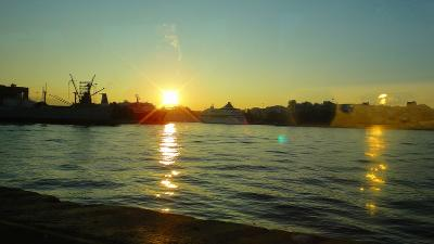 エーゲ海日帰りクルーズ① ホテルから出港のピレウス港まで移動