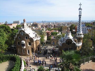 サン・パウ病院、カテドラル、カタルーニャ音楽堂、グエル公園(2011バルセロナ・パリ②)