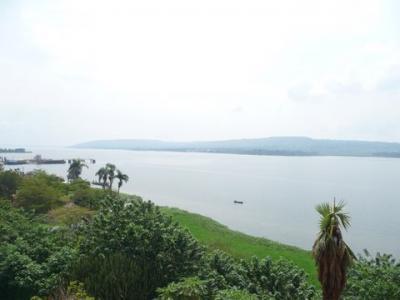 ウガンダのナイル川源流の町ジンジャ。
