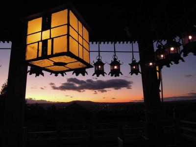【奈良県(奈良)】東大寺二月堂の夕暮れ