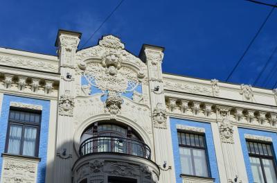 2歳子連れ11年ぶりのラトビア、そして北欧へ 18 ラトビアの首都リーガの旧市街とユーゲントシュティール建築群