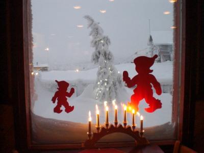 フィンランド ☆ロヴァニエミ☆サーリセルカ☆ サンタとオーロラを求めて