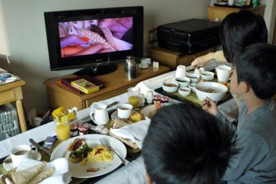 18.年末年始の釜山旅行 9食目 ロッテホテル釜山のルームサービスの朝食