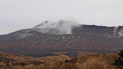 熊本出張旅行2-気温零度の草千里,風が強かった大観峰,寒い寒い
