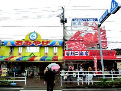 奥の細道を訪ねて第13回⑫寺泊のアメ横寺泊魚市場通り in 寺泊