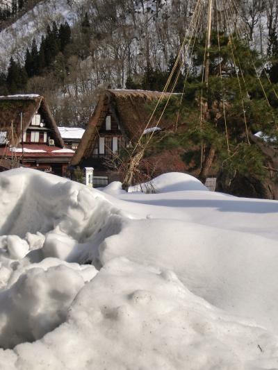 雪の越中 五箇山 こきりこの里 村上家