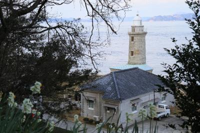 男木島灯台内部公開とスイセン