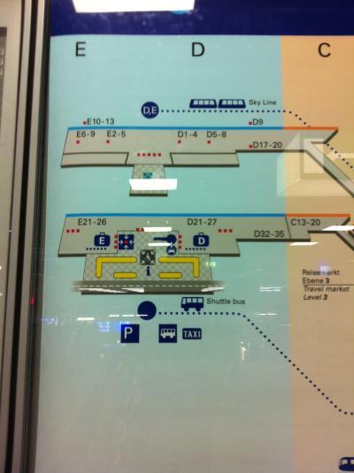 フランクフルト空港 総覧③ ターミナル2 LEVEL3 イミグレ前