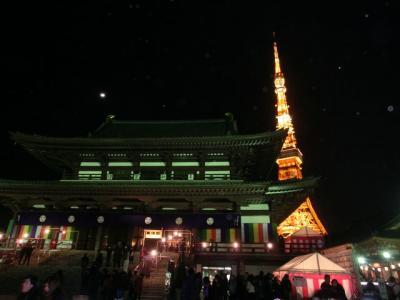 増上寺でカウントダウン(2011年12月)