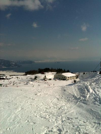 2012年 箱館山で初すべり
