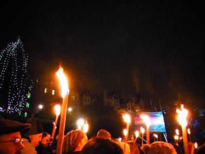 Edinburgh's Hogmanay Torchlight Procession(2011.12.30)