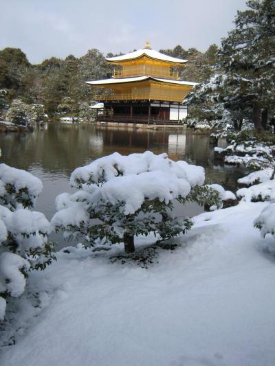 雪で真っ白…冬の京都 【平安神宮 金閣寺 龍安寺】