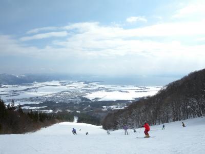 猪苗代でスキー